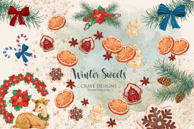 Winter Sweets Clip Art