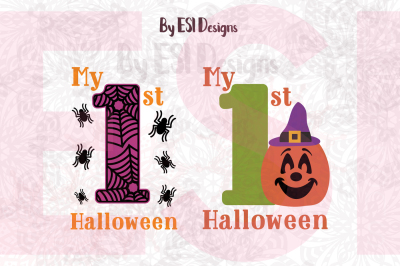 My 1st Halloween Designs - SVG, DXF, EPS & PNG - Cutting files, Clipart, Sublimation.