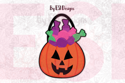 Jack O Lantern Treat Bucket - PNG, EPS, SVG, DXF,