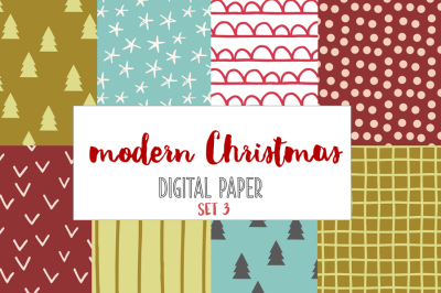 Modern Christmas backgrounds set 3