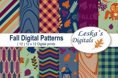 Fall Fox Digital Paper Pack