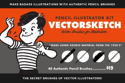 VectorSketch | Charcoal Pencils for Illustrator