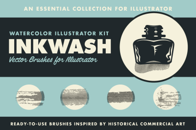 InkWash | Vector Ink and Water Brushes
