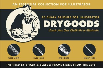DryGoods | Chalk Brushes for Adobe Illustrator