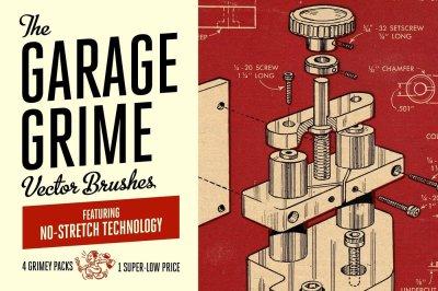 Garage Grime Vector Brush Bundle