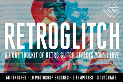 RetroGlitch | Photoshop Glitch Bundle