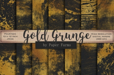 Gold grunge backgrounds
