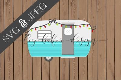 Camper Cut File SVG JPEG