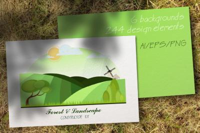 Forest Constructor Kit. Landscape Constructor Kit.