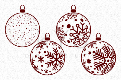 Christmas Tree Balls, Snowflake Balls, Christmas SVG files for Cricut