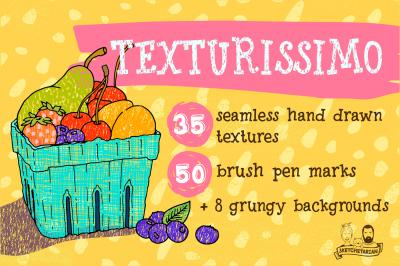 Texturissimo! Handdrawn textures set