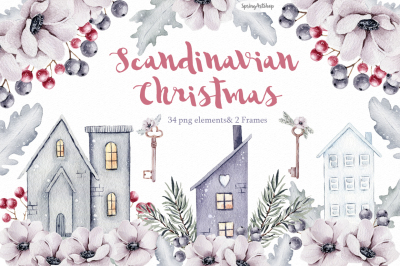Scandinavian Christmas Clipart