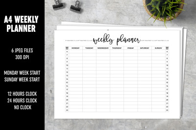 Weekly Planner A4 Minimalistic
