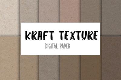 Kraft textures digital paper