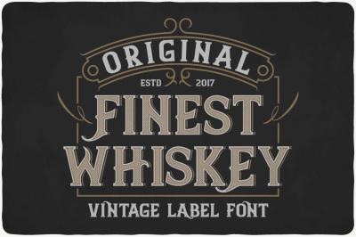 Finest Whiskey Typeface