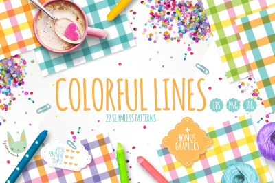 Colorful Lines - Seamless Patterns