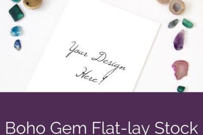 Boho Gem Flat-lay Stock Photo Pack