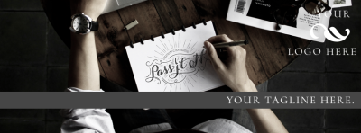 Customizable Hipster Facebook Cover Graphic