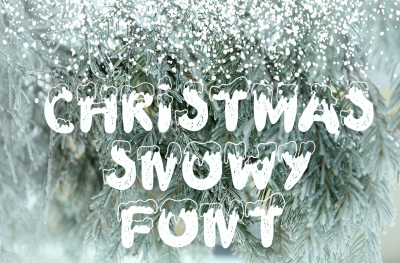 Snowy display font
