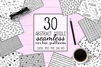 Abstract Doodle Seamless Patterns