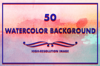 50 Watercolor Backgrounds 11