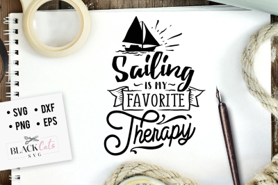 Sailing is my therapy SVG