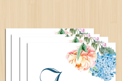 Floral Wedding Card IV