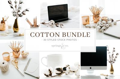 Cotton Styled Stock Photo Bundle