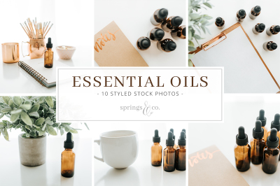 Essential Oils Styled Stock Photo Bundle