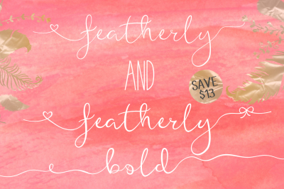 featherly font family