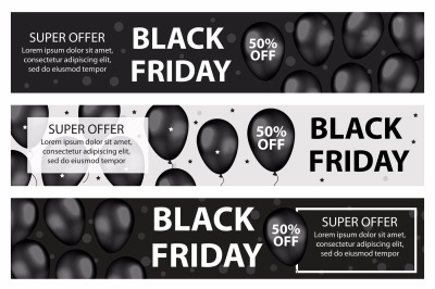 Black Friday promotional web banner