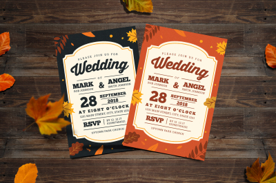 Autumn Style Wedding Invitation