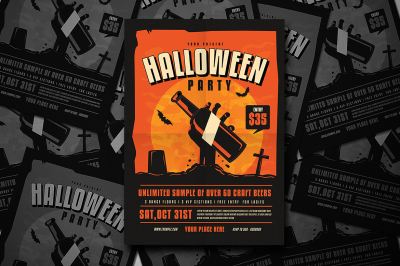 Halloween Beer party Flyer