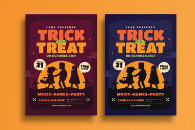 Halloween Trick or Treat Event Flyer
