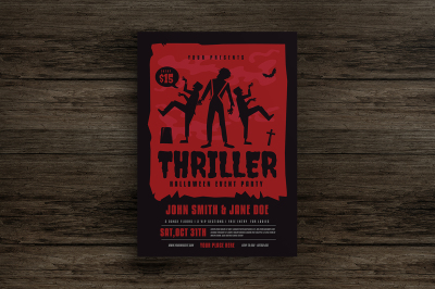 Halloween Thriller Party Flyer