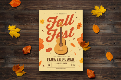 Fall Coustic Event Flyer