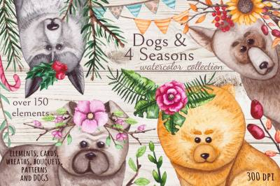 Dogs & 4 Seasons