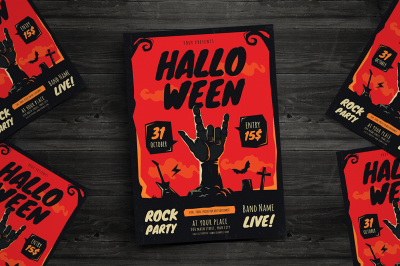 Halloween Rock Event Flyer