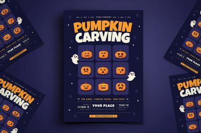 Halloween Pumpkin Carving Flyer