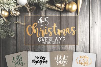 45 Christmas SVG overlays