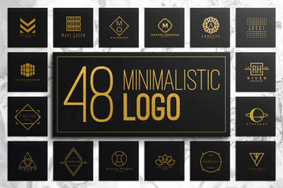 48 Minimalistic Logo Collection
