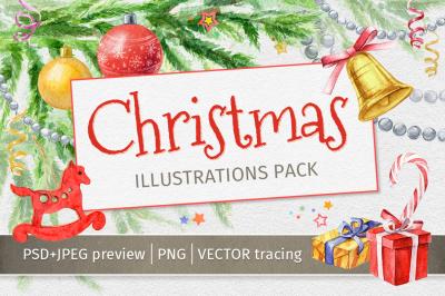 Christmas Illustrations Pack