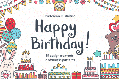 Happy Birthday! Clip Art Set