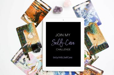 Spiritual Unicorn Card Deck + iPad flatlay