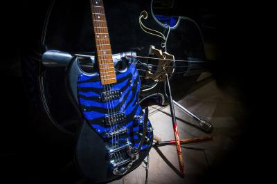 Guitar, Drumsticks, Double Bass Band