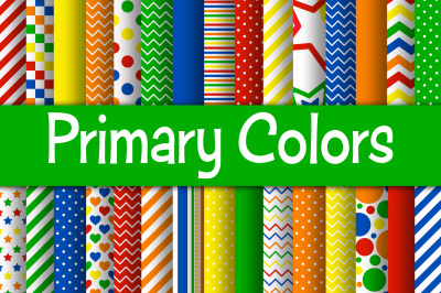 Primary Colors Digital Papers
