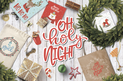 Christmas Lettering & Clipart