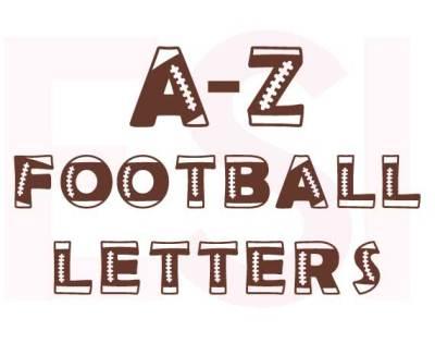 Sports, Football Alphabet - SVG, DXF, PNG, EPS.