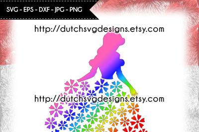 Princess cutting file, for Cricut & Silhouette, princess svg, princess cut file