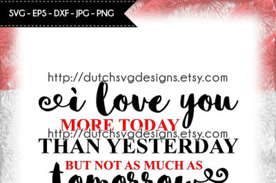 Text cutting file I Love You, in Jpg Png SVG EPS DXF